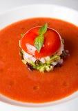 Tomato gaspacho soup Stock Images