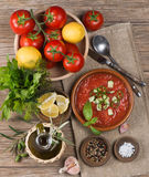 Tomato gazpacho soup Royalty Free Stock Photography