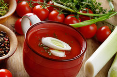 Tomato Gazpacho soup Stock Photos