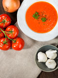 Tomato Gazpacho Soup Stock Photo
