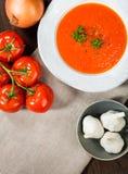 Tomato Gazpacho Soup stock photo