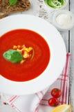 Tomato gazpacho soup Royalty Free Stock Photo
