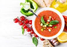 Tomato gazpacho soup Stock Photography