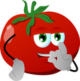 Tomato gesturing okay sign Stock Images