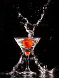 Tomato in a glass Royalty Free Stock Images