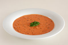 Tomato gorgonzola soup Royalty Free Stock Images