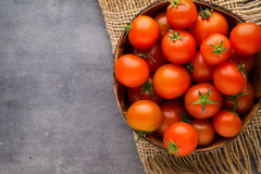 Tomato on the gray background Royalty Free Stock Photography