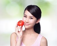 Tomato is great for health Stock Image
