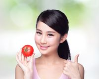 Tomato is great for health Royalty Free Stock Image