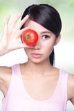 Tomato is great for health Stock Images
