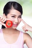 Tomato is great for health Royalty Free Stock Photography