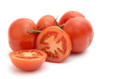 Tomato with the green branch, Royalty Free Stock Image