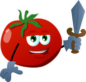 Tomato guard with sword Stock Photography