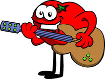 Tomato guitar player Royalty Free Stock Photography