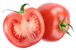 Tomato and half of one. Stock Photography
