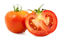Tomato half slice Royalty Free Stock Image