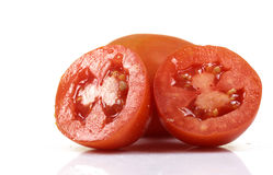 Tomato halves Royalty Free Stock Images