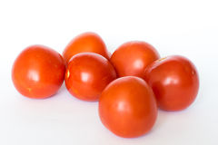 Tomato. A handful of tomato on white background Royalty Free Stock Photos