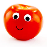 Tomato with happy face Royalty Free Stock Image