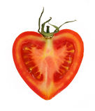 Tomato heart. Tomato isolated on the white background Stock Images