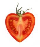 Tomato heart. Tomato isolated on the white background stock images