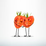 2 tomato heart shaped together. Love & lovers, couple, pair - concept . 2 tomato heart shaped together vector illustration