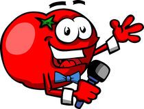 Tomato hosting a show Royalty Free Stock Photography