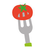 Tomato icon. Organic and Healthy food design. Vector graphic Stock Image