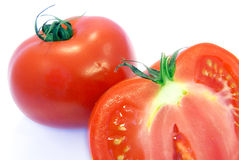 Tomato inside shot. Studio shot of a tomato with a view of its inside Royalty Free Stock Image