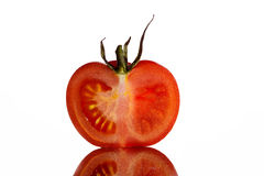 Tomato isolated. Secioned tomato isolated white background Stock Photography