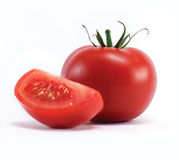 Tomato isolated on white Royalty Free Stock Photo