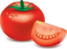 Tomato isolated on white photo-realistic Royalty Free Stock Images