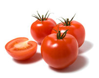 Tomato isolated on white thebackground. Tomato isoladed on the white background Royalty Free Stock Photos
