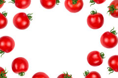 Tomato isolated on white top view Royalty Free Stock Image