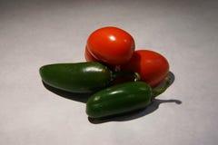 Tomato and jalapeno Stock Image