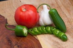 Tomato, Jalapeno and Garlic Stock Photos