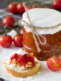Tomato jam Royalty Free Stock Images