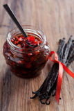 Tomato jam. With vanilla and balsamic, selective focus Stock Photo