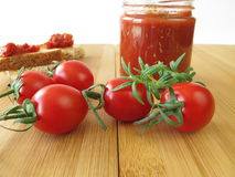 Tomato jam with rosemary Stock Image