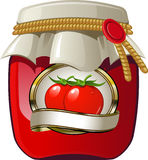 Tomato jar Royalty Free Stock Images