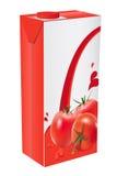 Tomato juice. Box vector illustration Stock Photo