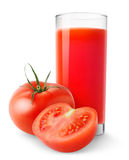 Isolated tomato juice royalty free stock photography