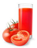 Isolated tomato juice Royalty Free Stock Images