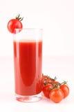 Tomato juice. Isolated glass of tomato juice Stock Images