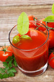 Tomato Juice. With fresh tomatoes Stock Image