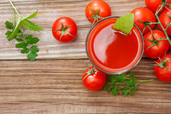 Tomato Juice. With fresh tomatoes Stock Images