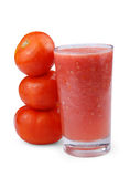 Tomato juice. With tomoto isolated clipping path Royalty Free Stock Photo