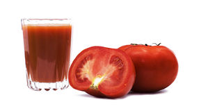 Tomato juice. Fresh tomatoes and tomato juice Stock Photography