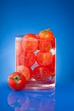 Tomato juice allegory Royalty Free Stock Photos