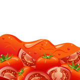 Tomato juice background Stock Photography
